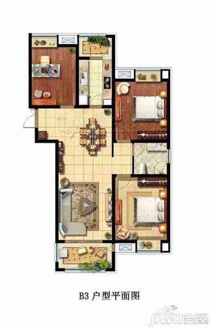 大唐菱湖御庭3室2厅1卫125平米毛坯产权房