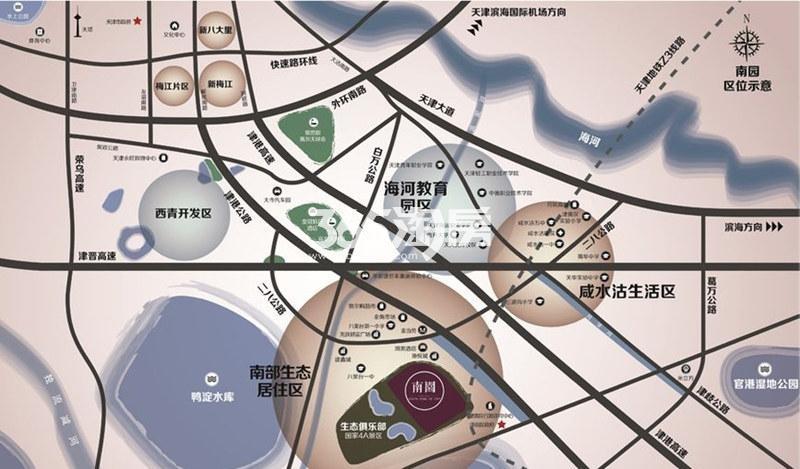 南园交通图