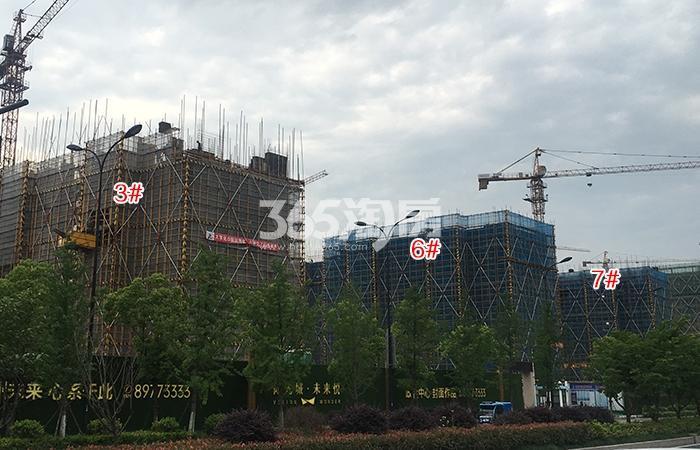阳光城未来悦3、6、7号楼施工进程(2018.5)