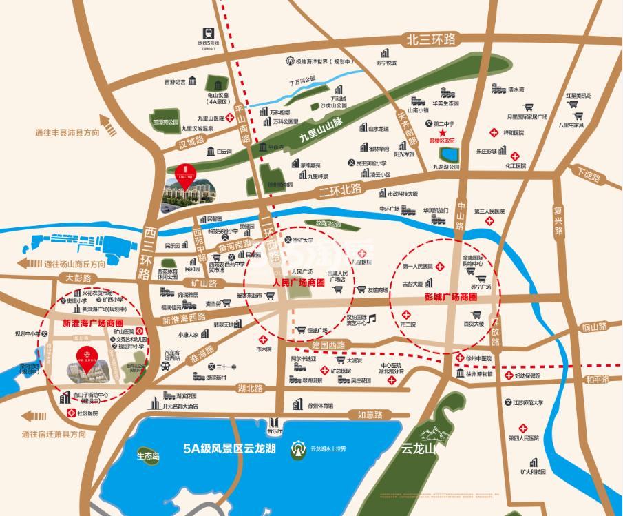 中海九樾交通图