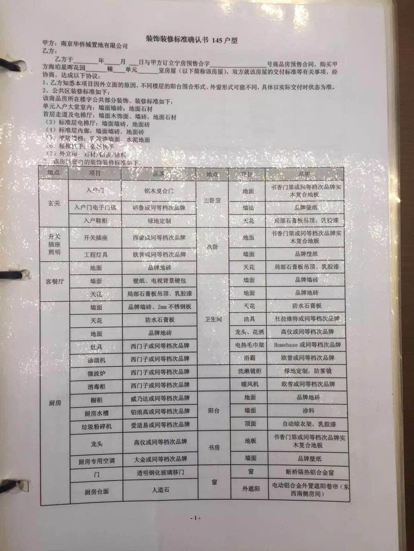 绿地华侨城海珀滨江145㎡户型精装确认书(11.20)