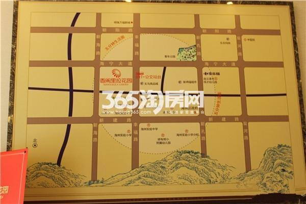 香阁里拉花园交通图