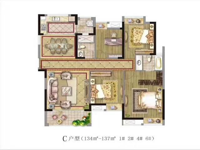 茂业天地3室2厅2卫115�O2013年产权房毛坯