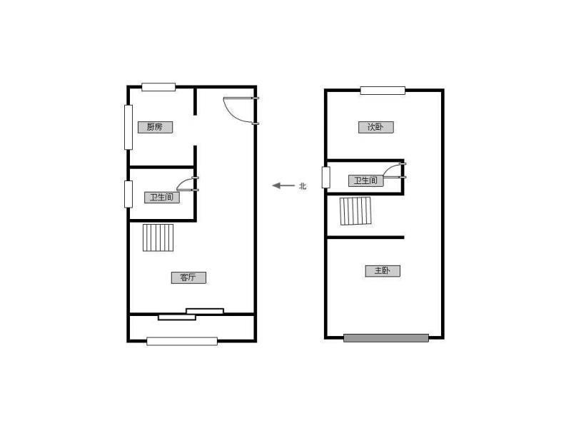 湖东路劲双层纪星洋学区简装复式130平两室两厅两卫