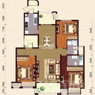 首开水印西堤3室2厅2卫130.16平米精装产权房