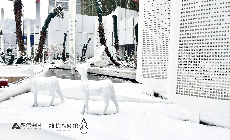 2018年1月融信公馆ARC示范区雪景