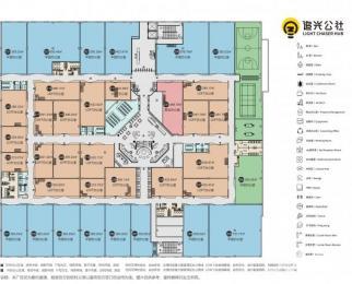 2号线雨润大街站追光公社737㎡5.2米大平层免费会议室