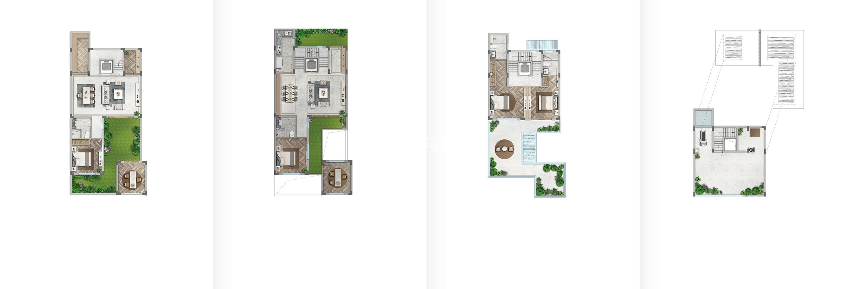 世茂国风大境139方(双首层地下室)合院户型图
