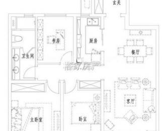 万科城3室2厅1卫88平米2014年产权房精装