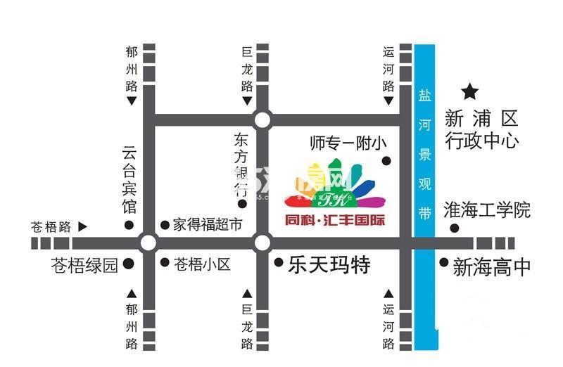 同科·汇丰国际交通图
