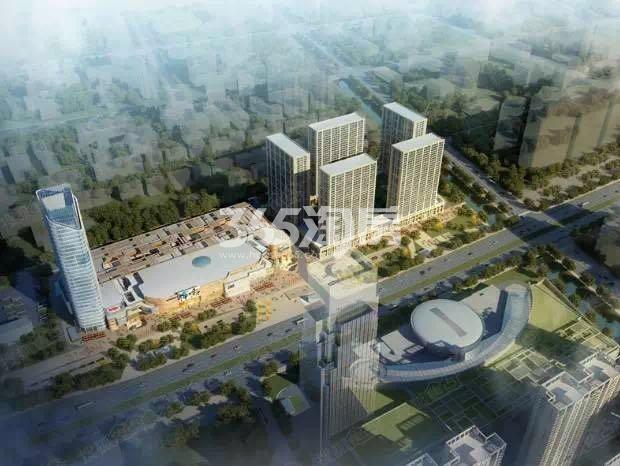 东方万汇城南区商业鸟瞰图