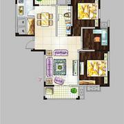 好运长安3室2厅1卫113平米整租中装