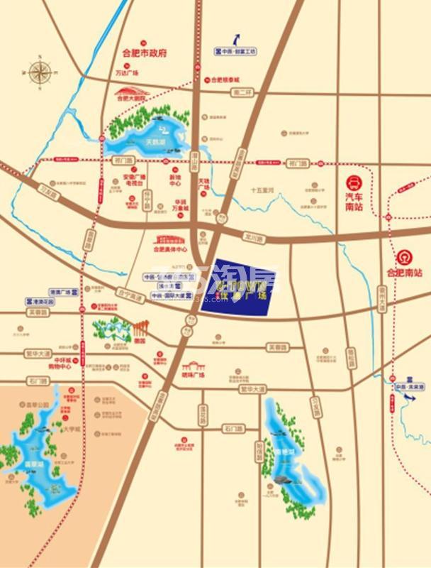中辰优唐广场交通图