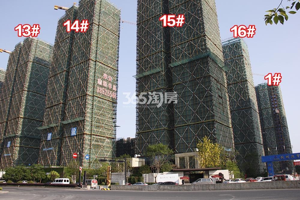 2018年5月上旬荣安翡翠半岛实景---高层1、13-16号楼
