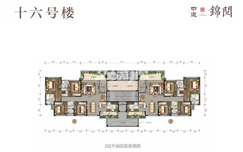 16号楼2平面图