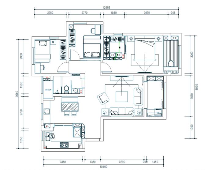 户型设计 三室两厅户型设计 城市之光户型设计