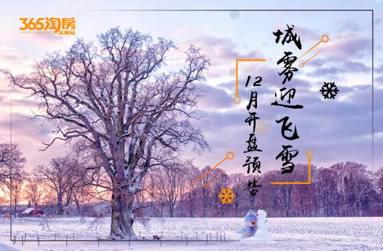 城雾迎飞雪—365淘房12月份开盘预告!