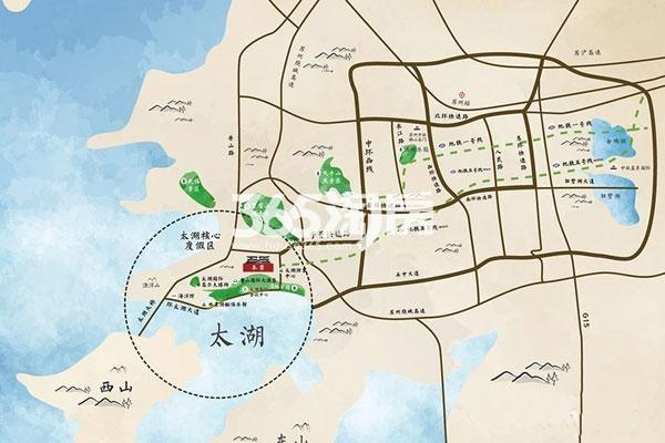 港中旅水泊堂前交通图
