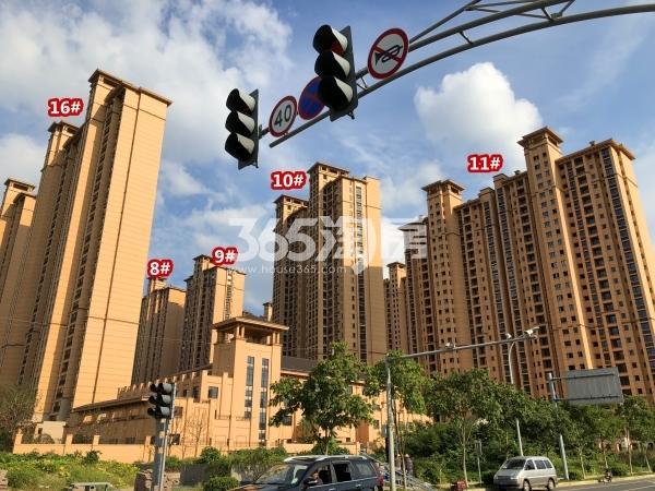 雅居乐中央府B区8-11#、16#楼现房实景(2018.9摄)