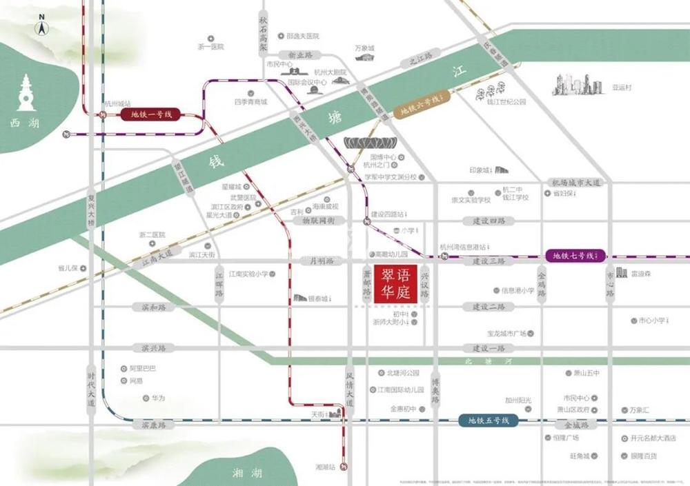 滨江翠语华庭交通图