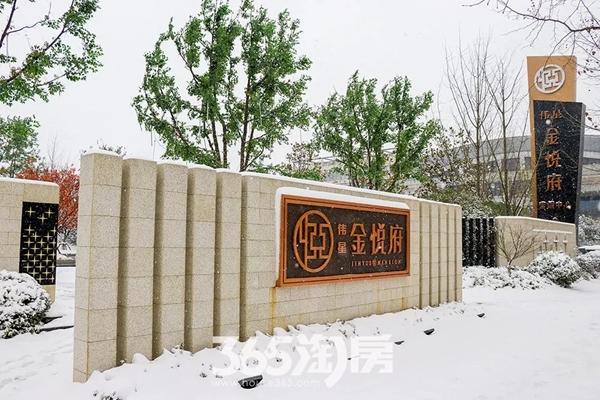 伟星金悦府雪景实景图-标志(2018.1摄)