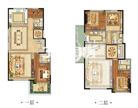 中国铁建西派国际别墅B2户型4室2厅5卫1厨220.00㎡