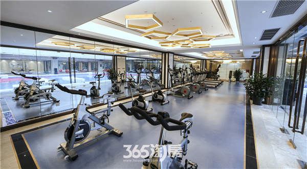 伟星玖璋台台地实景样板示范区-健身房(2018.01摄)