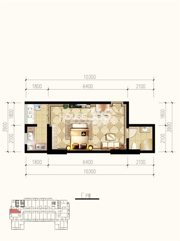 九锦1号E户型图