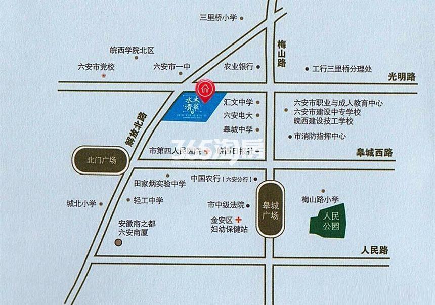 水木清华交通图
