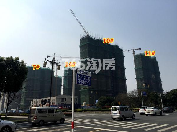宝能城7#、10#、11#、14#楼工程进度实景(2018.3摄)