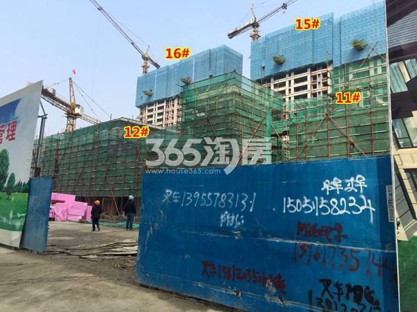银城东樾府11#、12#、15#、16#楼工程进度实景图(2018.3摄)