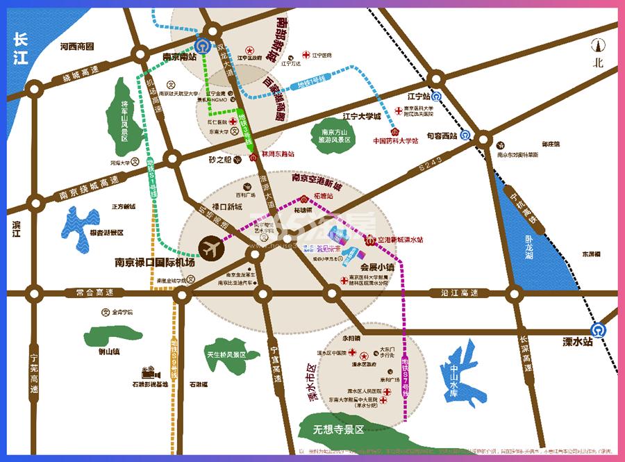银城孔雀城荟见未来交通图