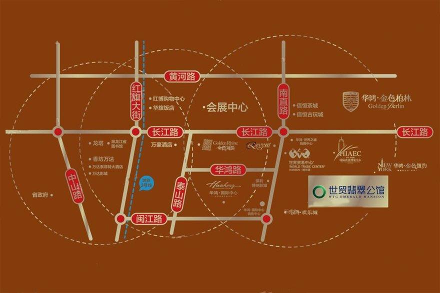 世贸国博广场交通图