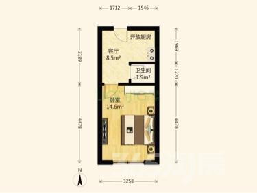河西区寿园里1室1厅1卫33平米简装使用权房1992年建