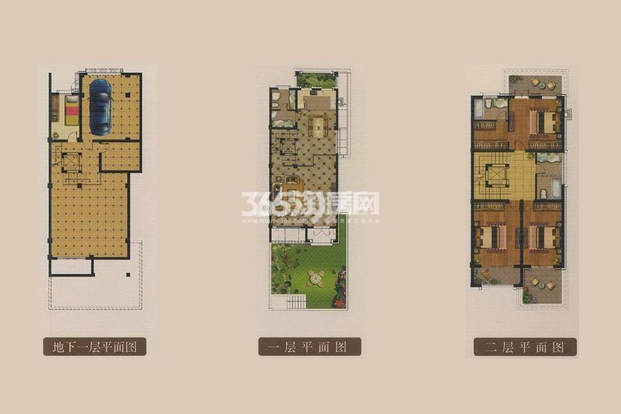 龙湖美墅B户型 6室2厅4卫1厨面积:305.59㎡