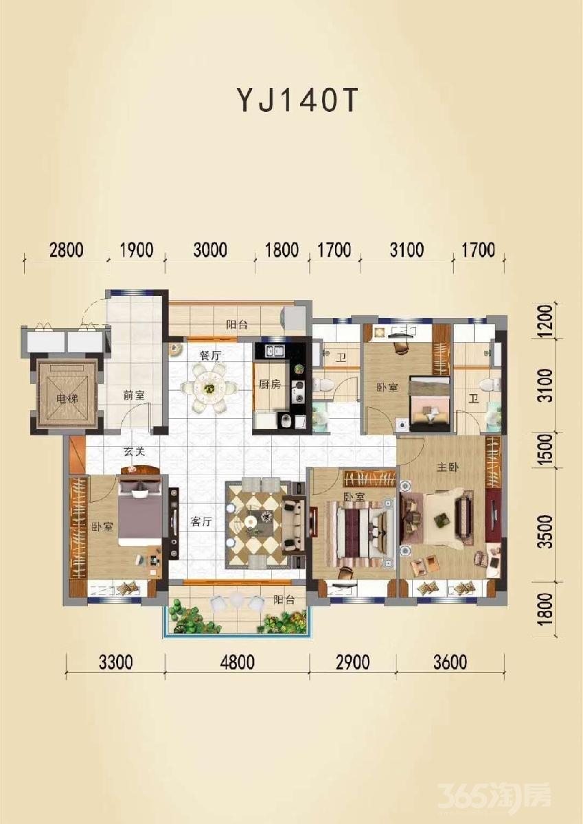 碧桂园滨江世家3室2厅2卫118平米2017年产权房精装