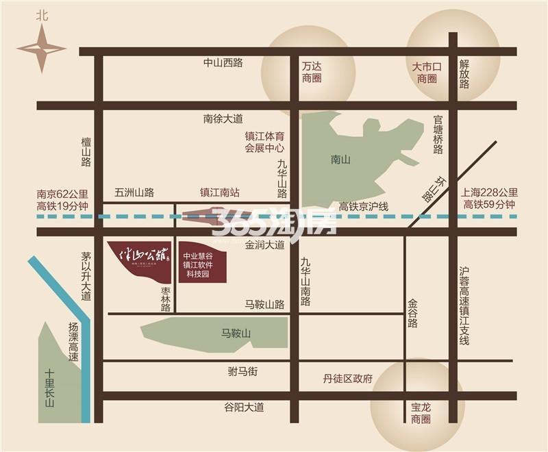 中业伴山公馆交通图
