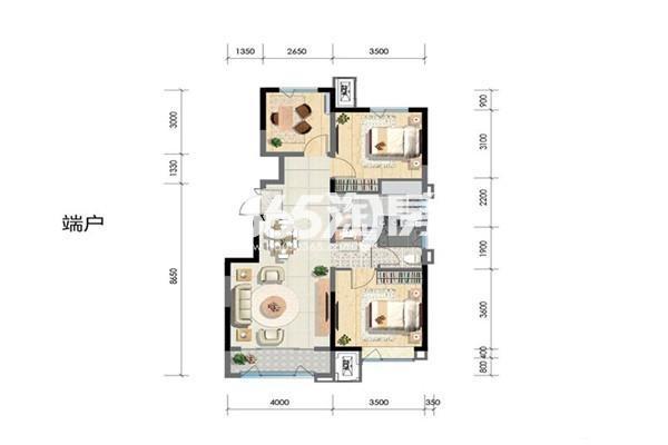 洋房中户95平 3室2厅1厨1卫