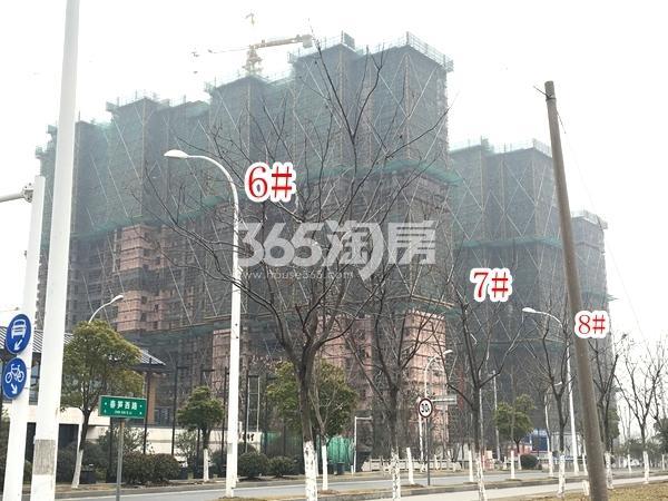 蓝光雍锦里高层6-8#楼实景图(2018.2 摄)