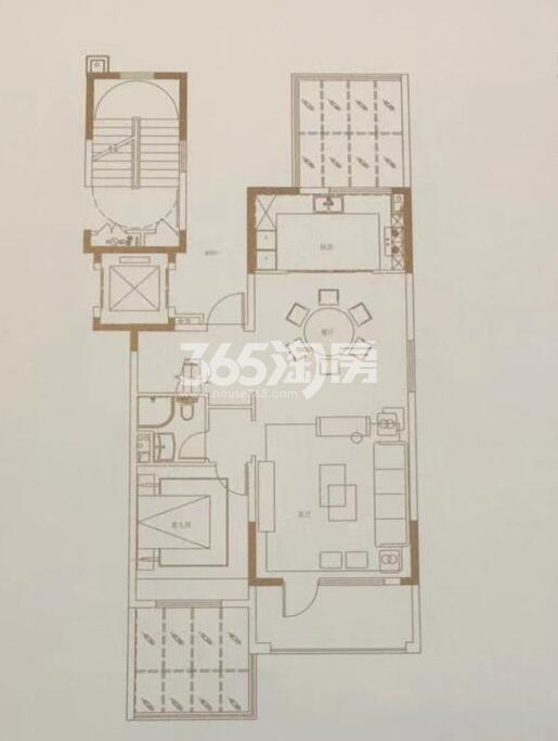碧桂园国湖四室两厅164㎡下叠一层户型图