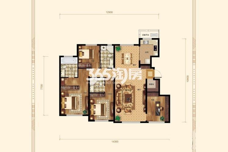 4室2厅2卫1厨149平米