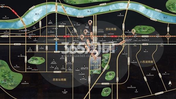 中车·共享城交通图
