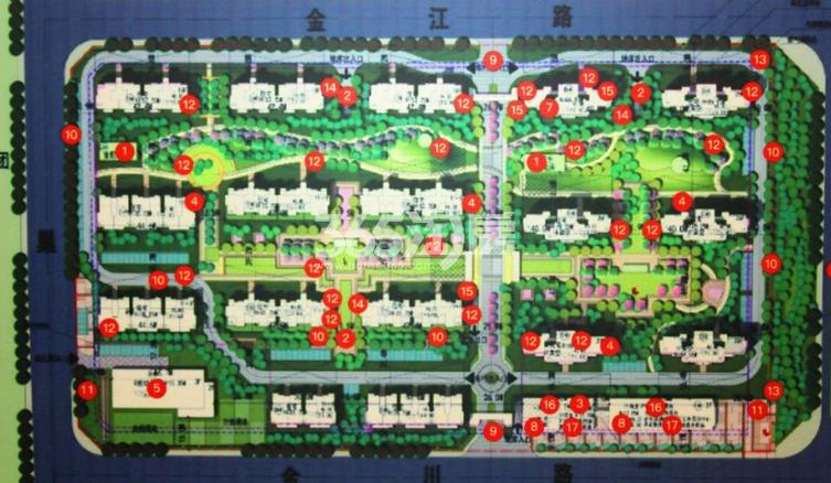 新城北宸紫郡楼栋分布实景图(2018.2.1)