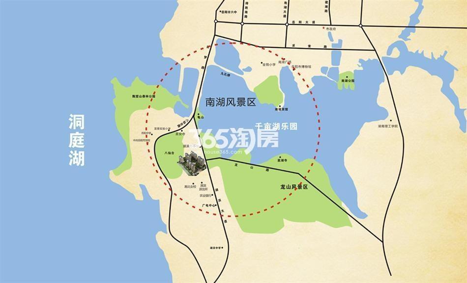 双湖湾住宅小区交通图