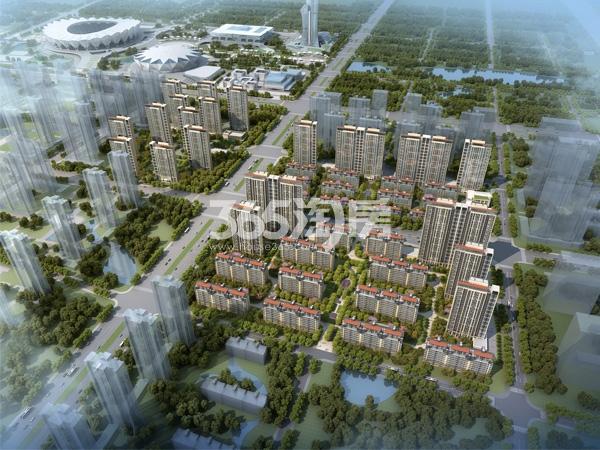 华润置地未来城市鸟瞰图