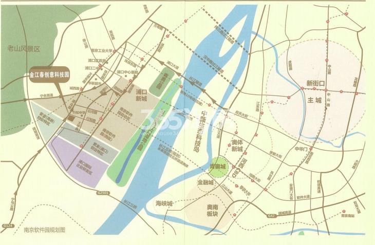金江春创意科技园交通图