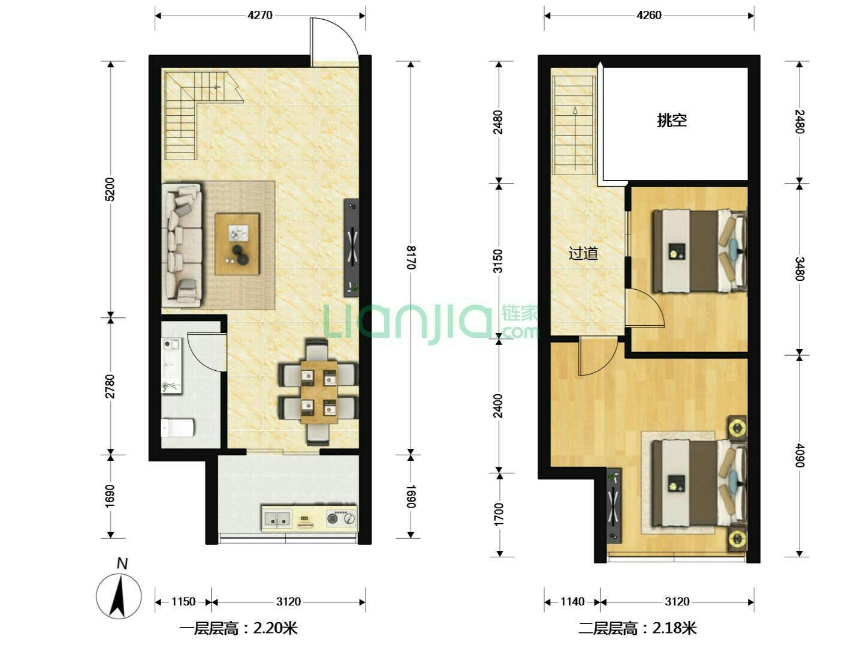 相城区凯翔国际广场2室2厅1卫93.33�O