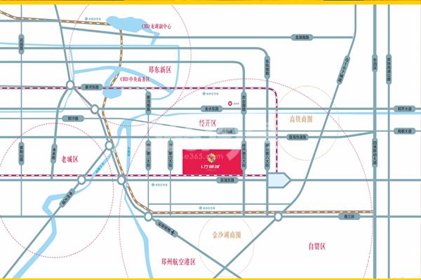 经开万锦城交通图