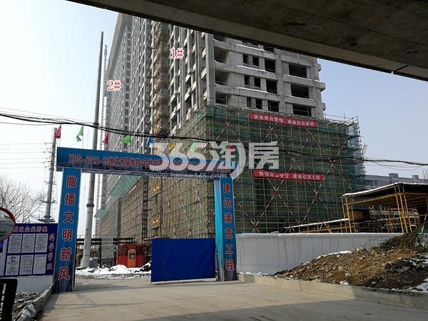 万荟城1#、2#公寓楼实景(2018.2)