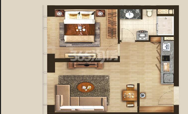 丰隆城市中心T3-40年产权公寓BS-4-1户型